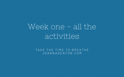 Week one – all the activities